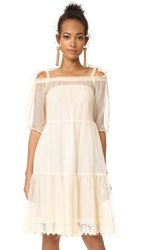 Holy Caftan Aliz Tulle Cover Up Dress Milk