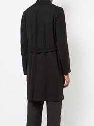 Individual Sentiments Single Breasted Crease Coat Black