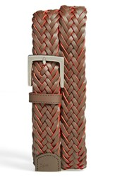 Men's Original Penguin 'Berman' Braided Leather Belt Brown