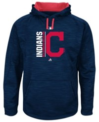 Majestic Men's Cleveland Indians On Field Icon Hoodie Navy