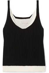 Bottega Veneta Layered Cashmere Blend Top Black