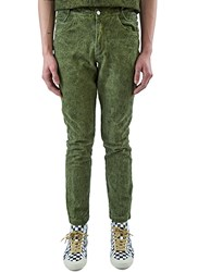 Telfar Embroidered Logo Straight Leg Jeans Green