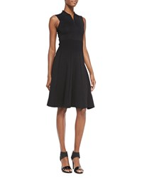 Jason Wu Sleeveless Polo Dress W Flounce Hem Women's Black