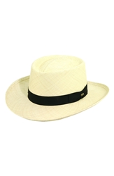 Scala Panama Straw Gambler Hat Natural