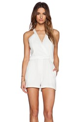 Parker Cullen Combo Romper Ivory