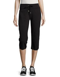 Calvin Klein Cotton Blend Cropped Pants Black