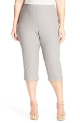 Plus Size Women's Eileen Fisher Stretch Jersey Slim Capri Pants Smoke