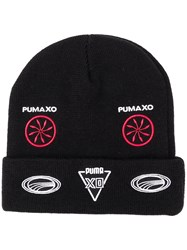 Puma Folded Beanie With Patches Black