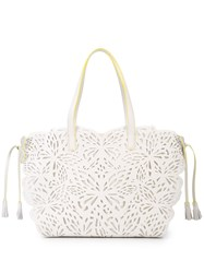 Sophia Webster Cut Out Tote Bag White