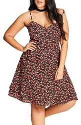 City Chic Plus Size Women's Ditsy Floral Fit And Flare Dress