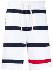 Polo Ralph Lauren Logo Striped Shorts White
