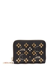 Christian Louboutin Panettone Loubisky Leather Coin Purse Black Gold