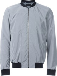 Christopher Kane Reflective Grid Bomber Jacket Metallic
