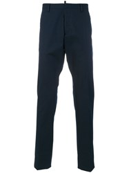 Dsquared2 Tailored Trousers Cotton Blue