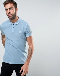 Boss Orange By Hugo Slim Fit Polo Shirt Light Blue