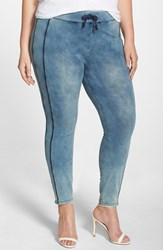 Plus Size Women's Poetic Justice 'Naomi' Stretch Knit Denim Jogger Pants