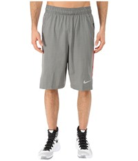 Nike Hyperelite Quick Shorts Tumbled Grey University Red Black Metallic Silver Men's Shorts Gray