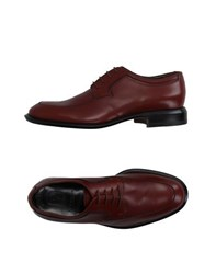 Moreschi Footwear Lace Up Shoes Men Brick Red