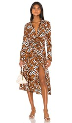 Equipment Relle Dress In Brown. Eclipse Multi