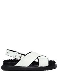 Marni 30Mm Pony And Shearling Sandals