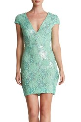 Dress The Population Zoe Embellished Bodycon Green