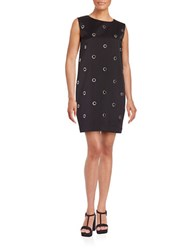 French Connection Grommet Shift Dress Black