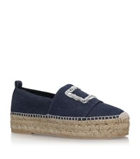 Roger Vivier Denim Espadrilles Female