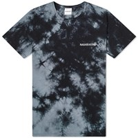 Nasaseasons Tie Dyed And Embroidered Tee Black