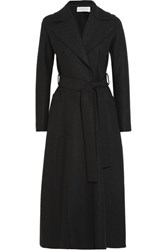 Harris Wharf London Belted Wool Felt Coat Black