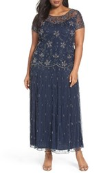 Pisarro Nights Plus Size Women's Embellished Long Dress