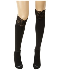 Bootights Lacie Lace Darby Knee High Ankle Sock Jet Knee High Hose Black