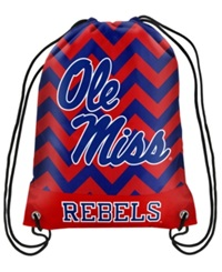 Forever Collectibles Mississippi Rebels Chevron Drawstring Backpack Red