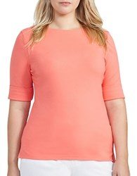 Lauren Ralph Lauren Plus Judy Solid Tee Summer Peach