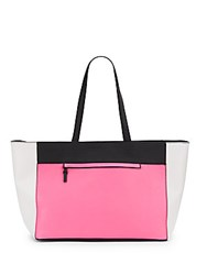 French Connection Perforated Celebration Tote Pink