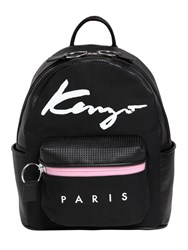 Kenzo Essentials Canvas And Leather Backpack