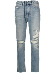 Iro Distressed Fitted Jeans Blue