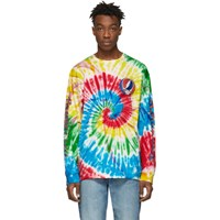 R 13 R13 Multicolor Tie Dye Grateful Dead Long Sleeve T Shirt