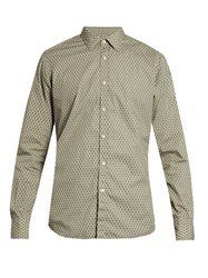 Bevilacqua David Geometric Print Cotton Shirt Multi