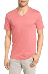The Rail Men's Slub Cotton V Neck T Shirt Red Baroque