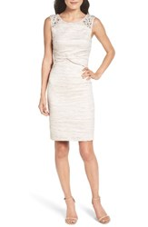 Eliza J Petite Women's Embellished Sheath Dress