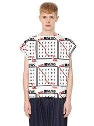 J.W.Anderson Printed Cotton Blend Jersey T Shirt