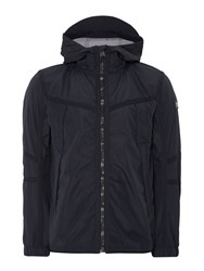 Duck And Cover Kempton 2 Light Weight Hooded Jacket Navy