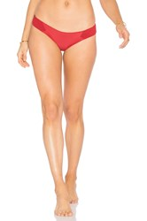 Tori Praver Swimwear Adelle Bottom Red