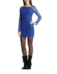 Bcbgeneration Long Sleeve Lace Sheath Electric Blue