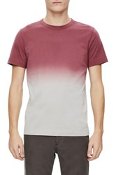 Theory Men's Gaskell Dip Dye Ombre T Shirt Cayenne Multi