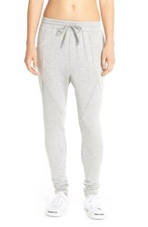 Women's Pink Lotus 'Process' Harem Sweatpants Heather Grey