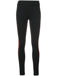 No Ka' Oi Sports Stripe Leggings Black