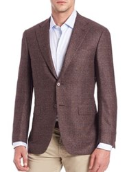 Canali Flecked Wool Blazer Brown