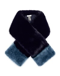 Reiss Irving Color Block Scarf Navy Teal
