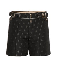 Chloe Metallic Jacquard Shorts Black